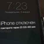 iphone ipad отключен