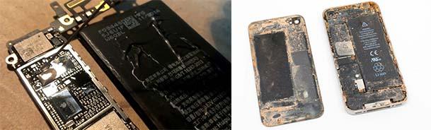 Ремонт после попадания влаги на iPhonе