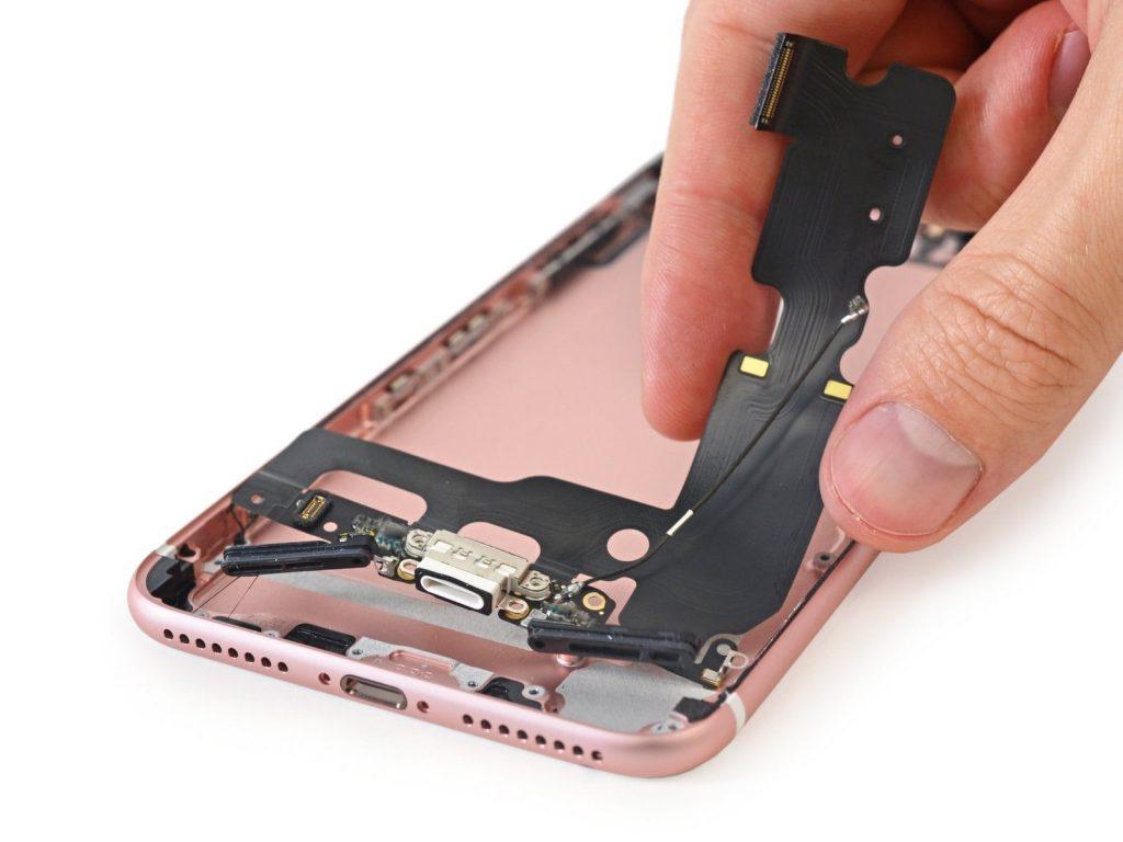 замена разъема наушников айфон 7 плюс