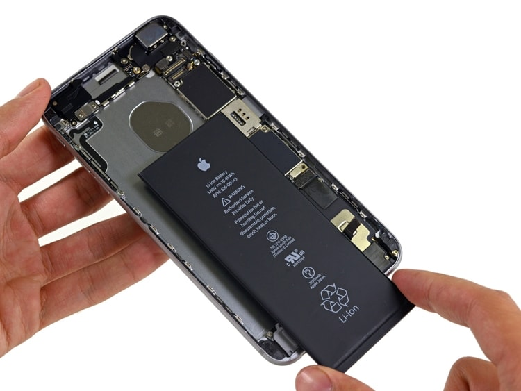 iphone 6s plus замена аккумулятора