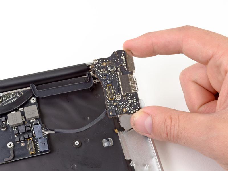 macbook air замена разъема зарядки
