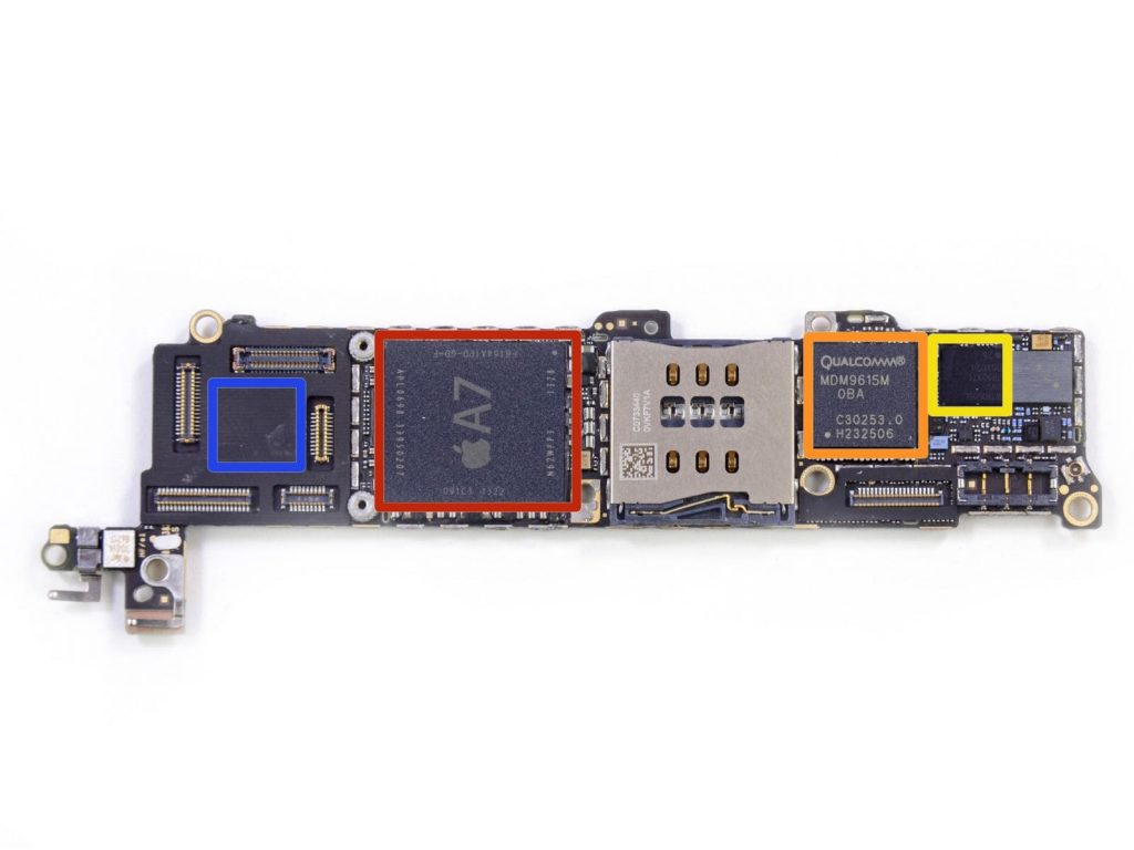 ремонт платы Iphone 5s