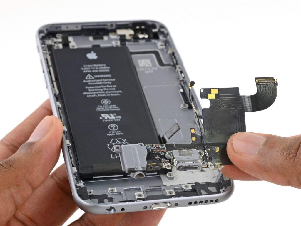 замена разъема зарядки iphone 6s